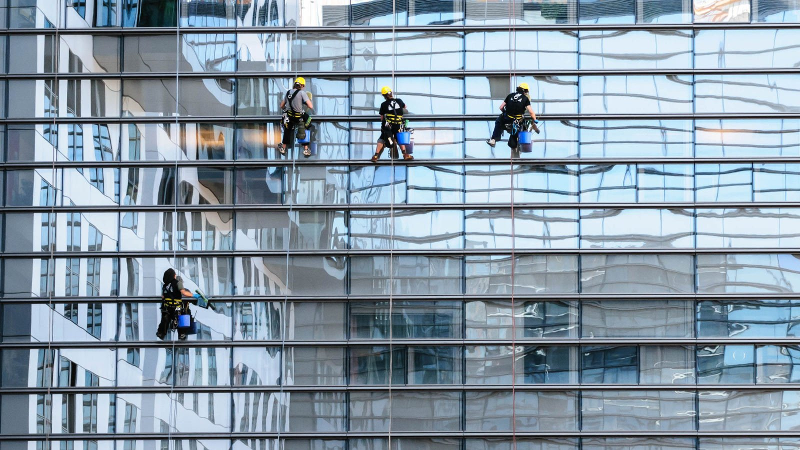 Cleaning High-Rise Windows Without a Ladder